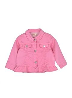 Silversun Kids Kız Bebek Etek Uçları Fırfırlı Ceket- Ck 115853